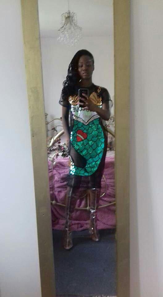 Sequin Mermaid Dress beach cover up