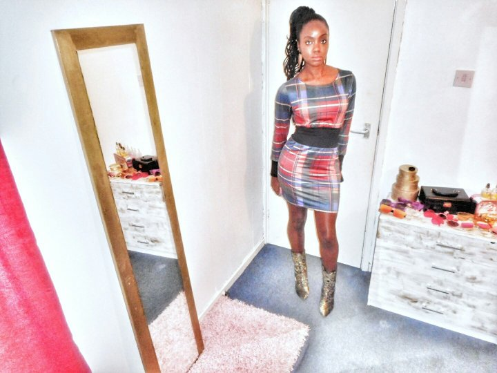 Mystere's Closet Plaid Mini dress
