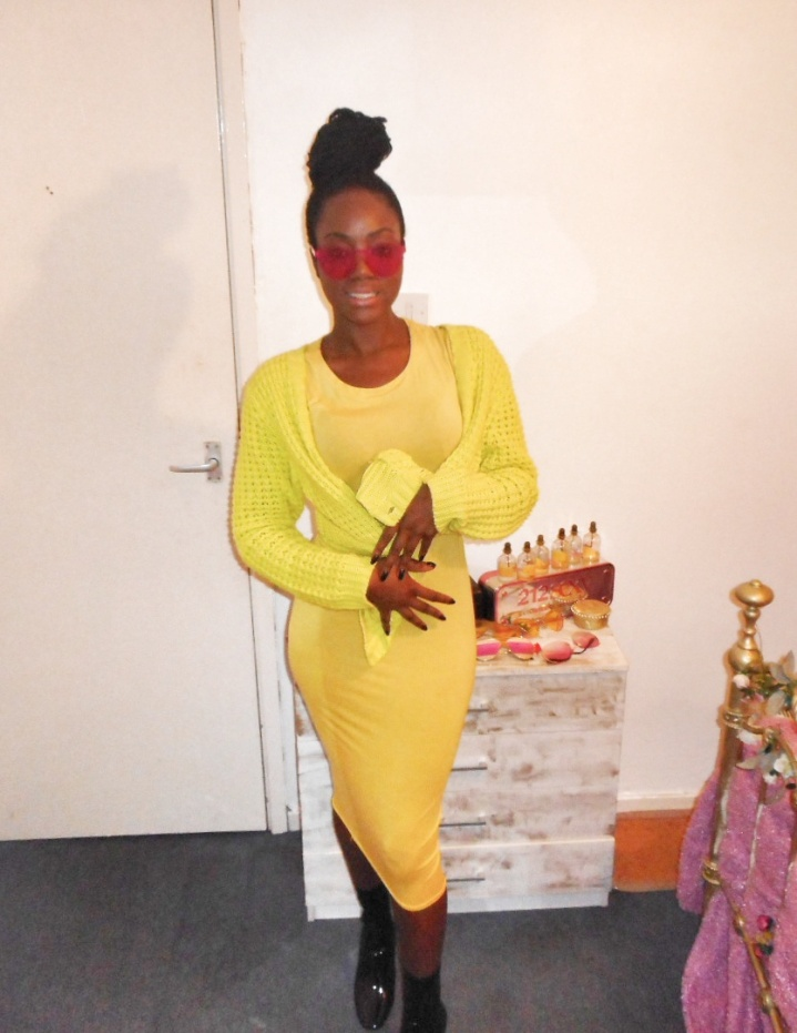 Mystere's Closet Yellow Dress