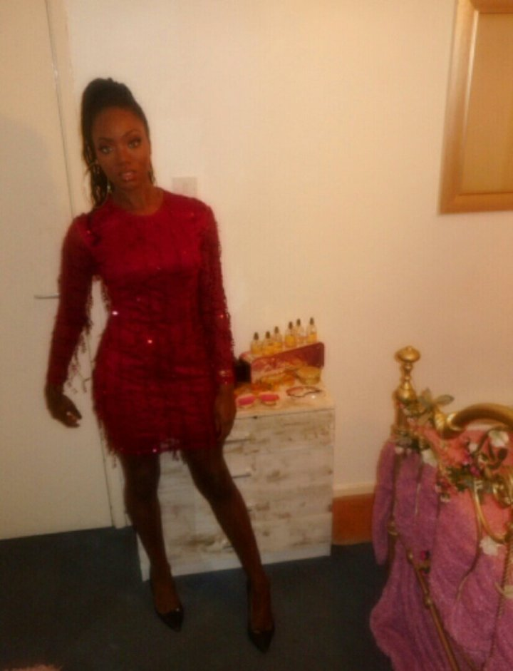 Mystere's Closet Red Sequin Dress