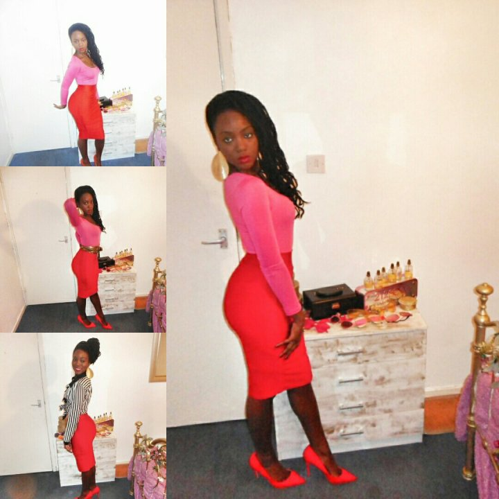 Mystere's Closet pink and red