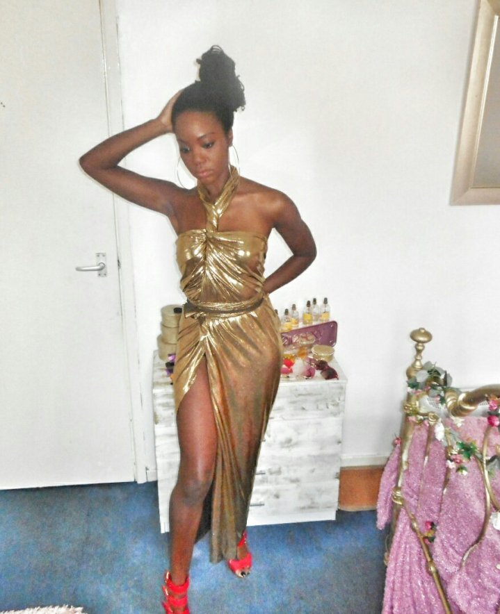 Mystere's Closet Metallic gold dresses